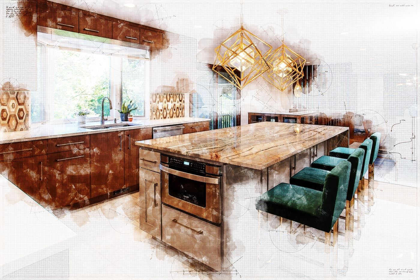An artistic rendering for a residential design service in Springfield MO