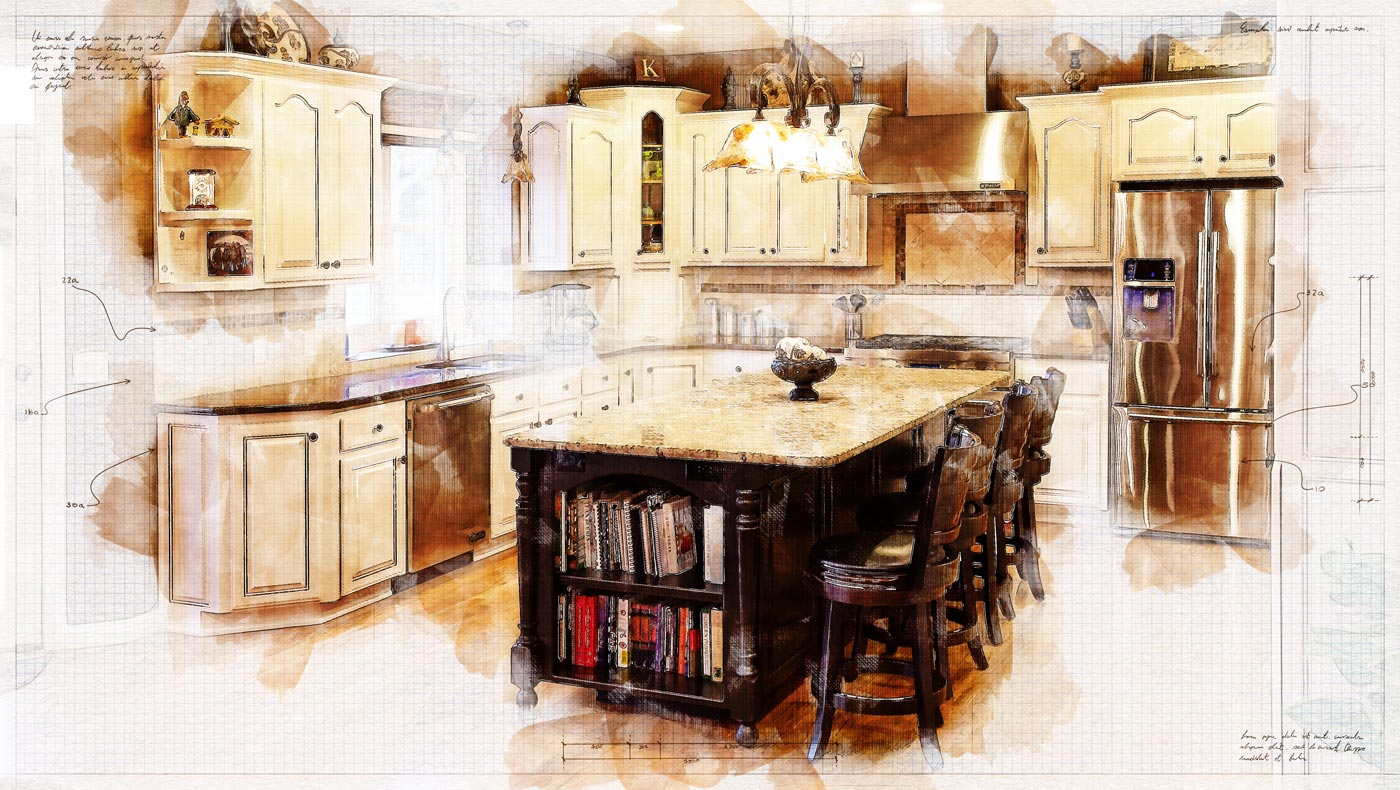 An artistic rendering from a kitchen design company in Springfield MO