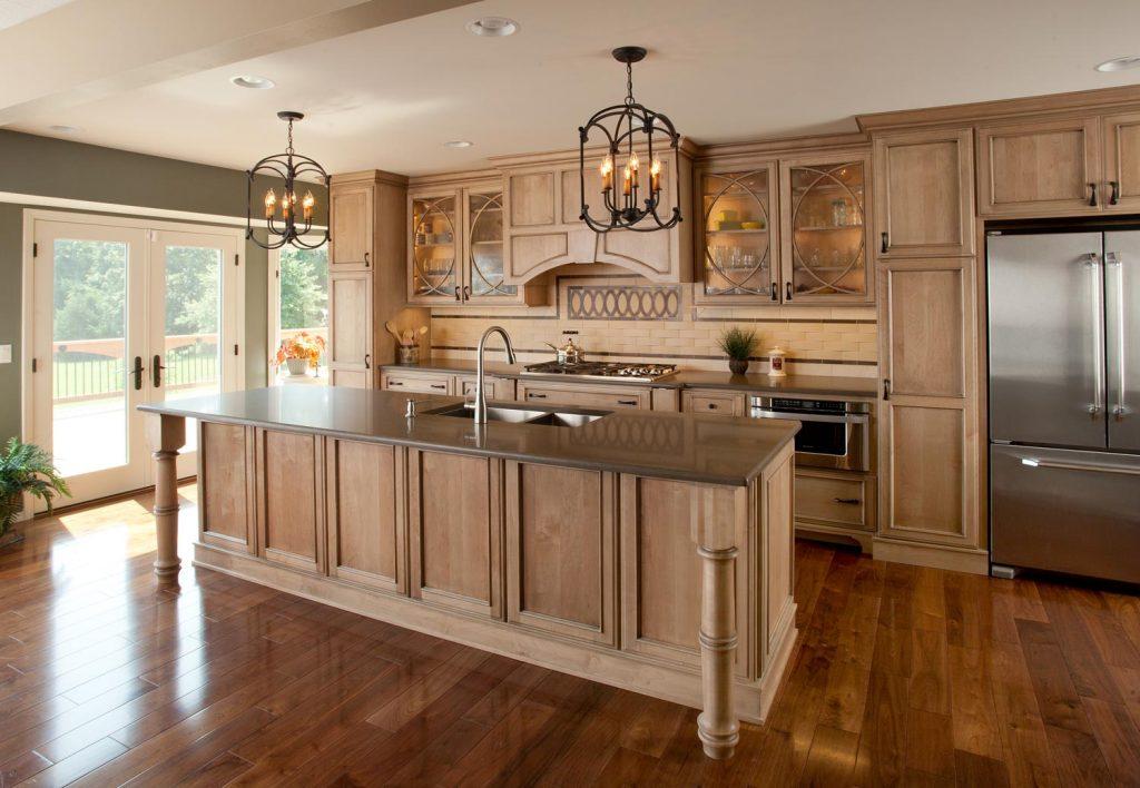 A custom kitchen design