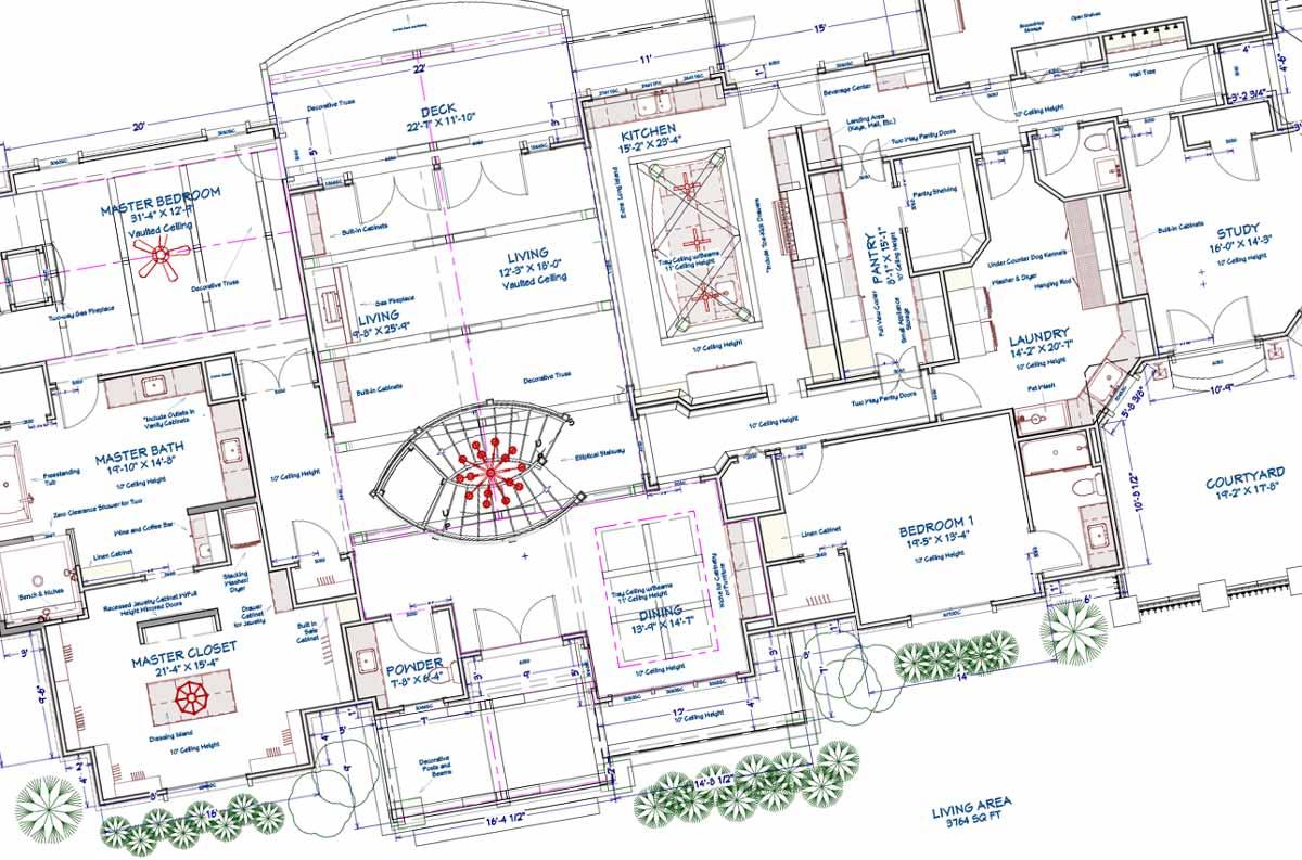 European style home blueprint
