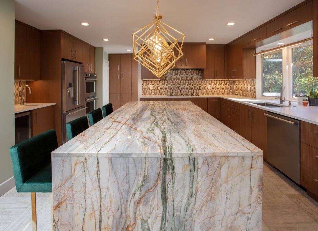 Large high-end kitchen in a home remodeling project