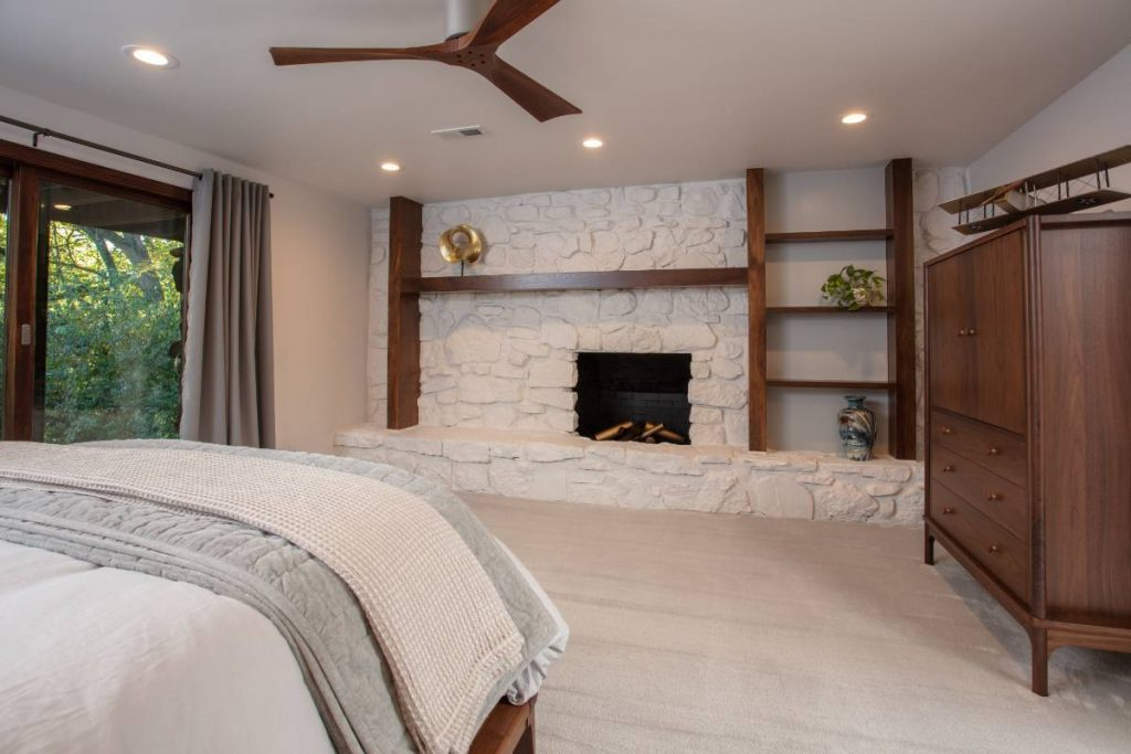 Bedroom from a home remodeling project