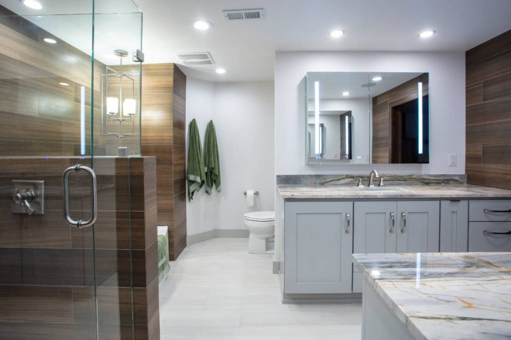 A complete home renovation project including the master bathroom