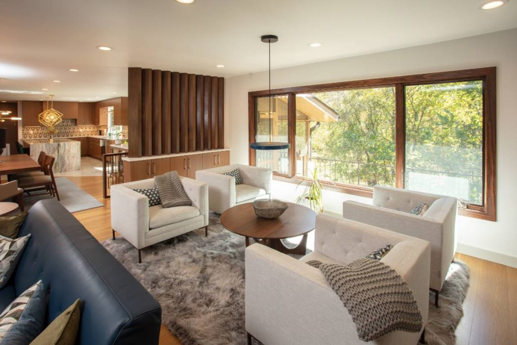 Sitting area in a high end home remodeling project